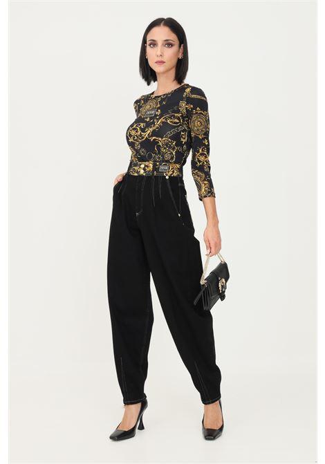 Black women's trousers by versace jeans couture, casual model VERSACE JEANS COUTURE | Pants | 71HAB5IMDW011ITN909