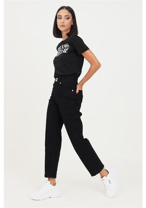 Black women's jeans by versace jeans couture with logo application on the back VERSACE JEANS COUTURE   Jeans   71HAB5T1CDW00909