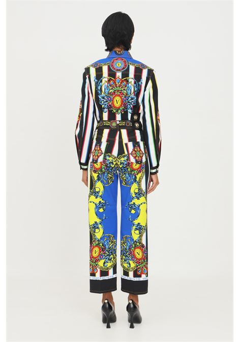 Women's jeans by versace jeans couture with regalia print VERSACE JEANS COUTURE | Pants | 71HAB5TLES010054MC2