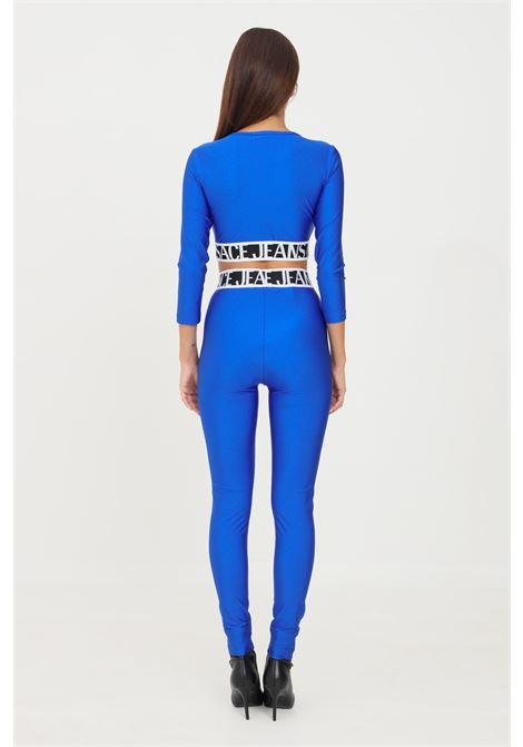 Leggings cobalto versace jeans couture con banda elastica logata VERSACE JEANS COUTURE   Leggings   71HAC101N0008243
