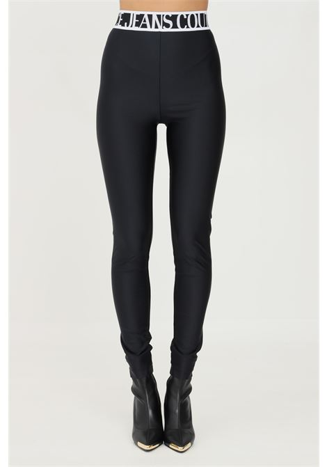 Black leggings by versace jeans couture with logo band VERSACE JEANS COUTURE   Leggings   71HAC101N0008899