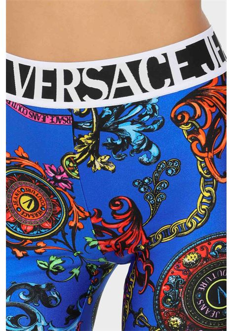 Cobalt women's shorts by versace jeans couture casual model with allover print VERSACE JEANS COUTURE | Shorts | 71HAC106JS008243