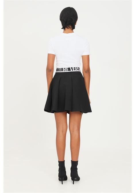 Black skirt by versace jeans couture with logo VERSACE JEANS COUTURE | Skirt | 71HAE809N0006899