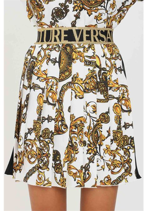 Fantasy skirt by versace jeans couture, short model with plisset VERSACE JEANS COUTURE | Skirt | 71HAE811NS006G03 (003+948)