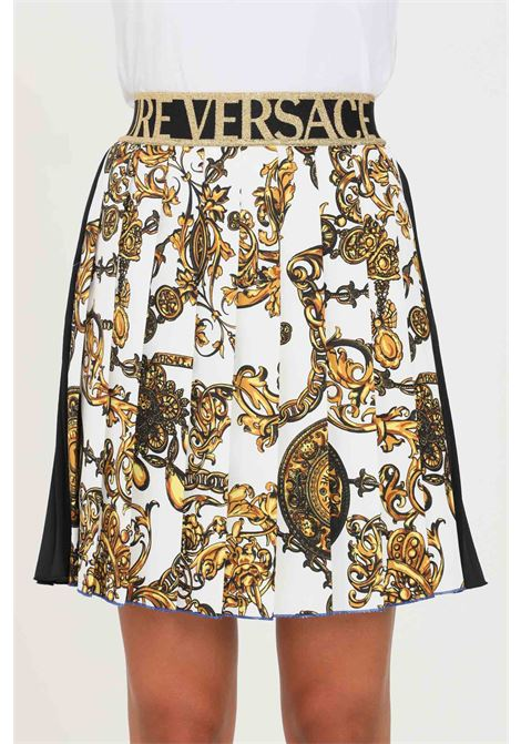Fantasy skirt by versace jeans couture, short model with plisset VERSACE JEANS COUTURE | Skirt | 71HAE811NS006G24 (243+948)