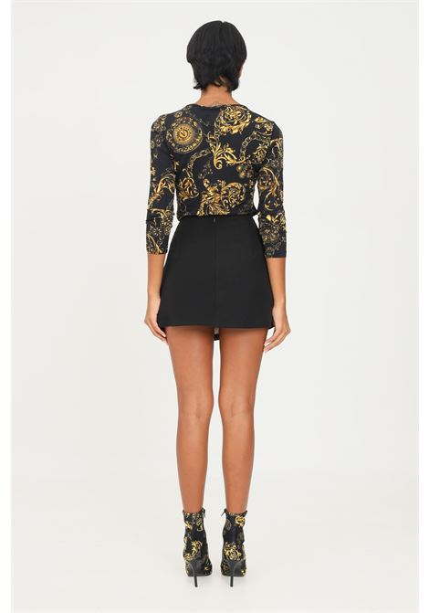 Black skirt by versace jeans couture, printed lining VERSACE JEANS COUTURE | Skirt | 71HAE8A3N0006899