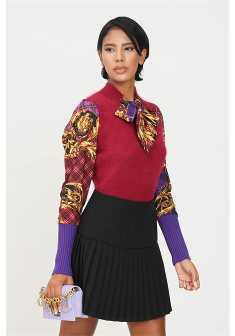 Violet women's sweater by versace jeans couture with bow VERSACE JEANS COUTURE | Knitwear | 71HAF818CM01N341