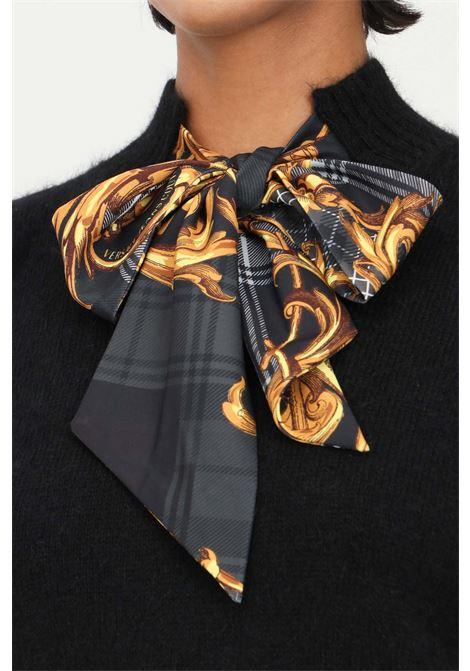 Maglioncino nero donna versace jeans couture con fiocco VERSACE JEANS COUTURE | Maglieria | 71HAF818CM01N899
