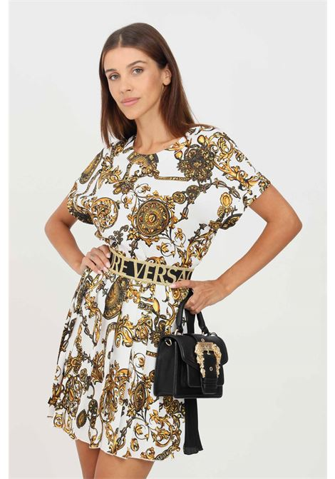 Blusa donna fantasia versace jeans couture a manica corta con stampa allover VERSACE JEANS COUTURE | Bluse | 71HAH206NS006G03 (003+948)