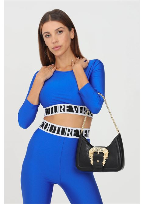Cobalt women's top by versace jeans couture casual crop model VERSACE JEANS COUTURE | Top | 71HAH218N0008243