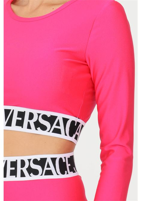 Pink women's top by versace jeans couture casual crop model VERSACE JEANS COUTURE | Top | 71HAH218N0008413