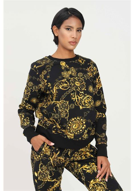 Felpa donna versace jeans couture modello girocollo con stampa allover VERSACE JEANS COUTURE   Felpe   71HAI309FS002G89 (899+948)