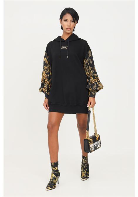Abito donna nero versace jeans couture con cappuccio VERSACE JEANS COUTURE   Abiti   71HAI315NS006G89 (899+948)