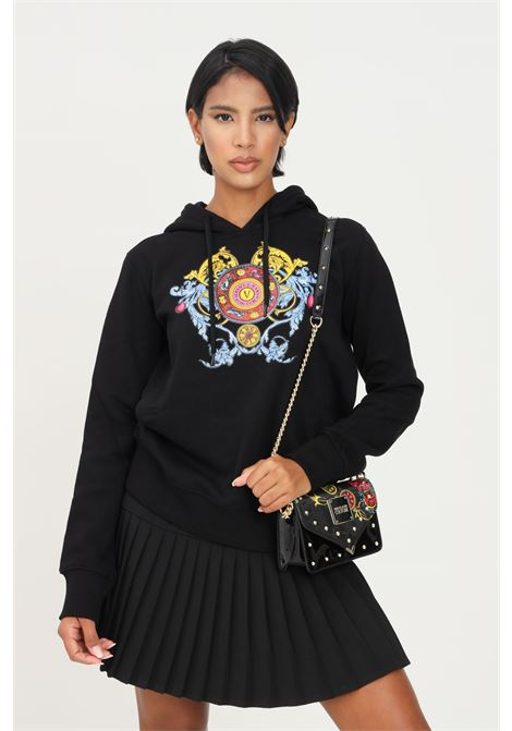 Black women' s hoodie by versace jeans couture with front print VERSACE JEANS COUTURE | Sweatshirt | 71HAIT17CF00O899
