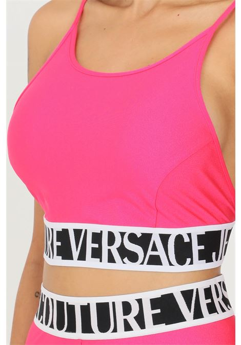 Pink women's top by versace jeans couture casual model with short cut VERSACE JEANS COUTURE | Top | 71HAM214N0008413