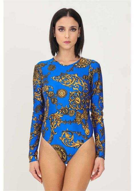 Blue gold body by versace jeans couture with allover print elegant model VERSACE JEANS COUTURE | Body | 71HAM221JS008G24 (243+948)