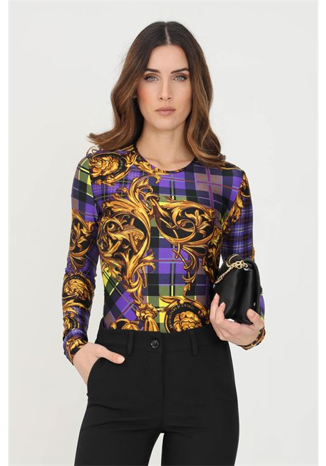 Body donna fantasia versace jeans couture elegante con stampa allover VERSACE JEANS COUTURE | Body | 71HAM221JSO20G37 (337+ORO)