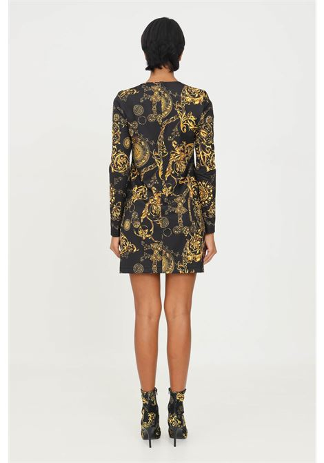 Black dress by versace jeans couture with baroque print VERSACE JEANS COUTURE | Dress | 71HAO921JS009G89 (899+948)