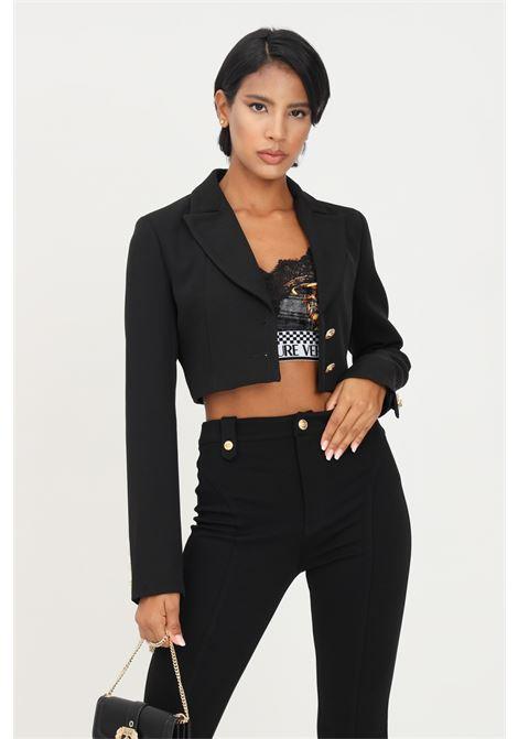 Blazer nero donna versace jeans couture con taglio corto VERSACE JEANS COUTURE | Giacche | 71HAQ7A1N0006899