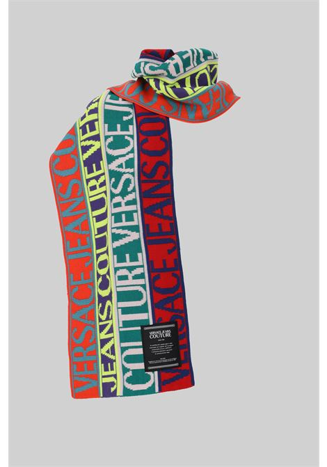 Multicolor versace jeans couture scarf with allover logo VERSACE JEANS COUTURE | Scarf | 71VA2H51ZG025982