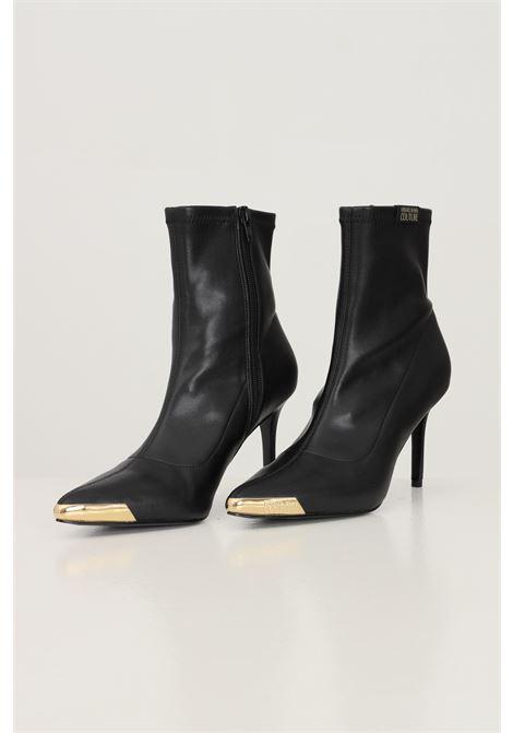 Stivaletti fondo scarlett donna nero versace jeans couture design a punta VERSACE JEANS COUTURE | Stivaletti | 71VA3S5171567899