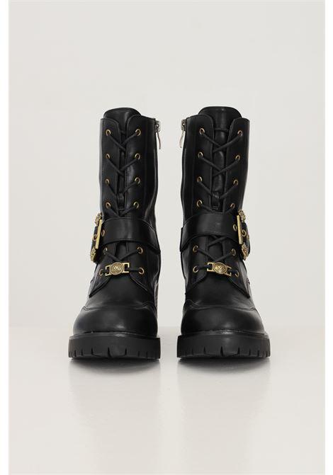 Stivaletti fondo mia donna nero versace jeans couture con fibbia oro VERSACE JEANS COUTURE | Stivaletti | 71VA3S9471570899