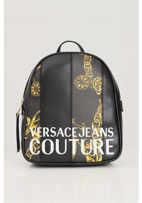 Black women's backpack by versace jeans couture with allover print VERSACE JEANS COUTURE | Backpack | 71VA4B47ZS082G89 (899+948)