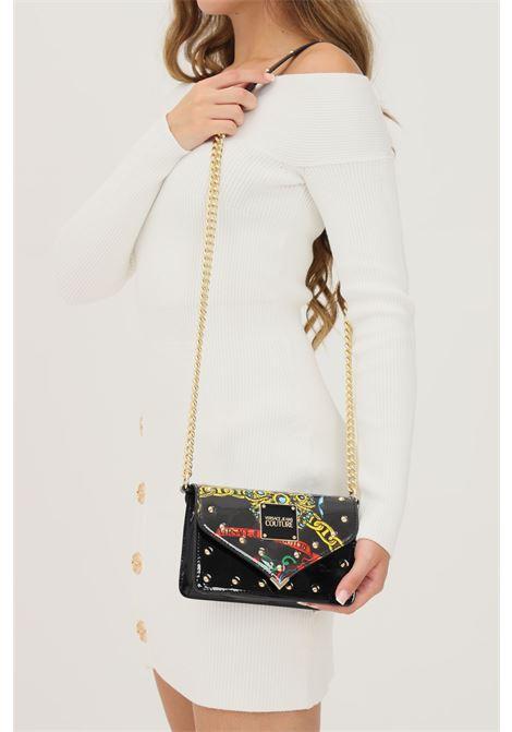 Borsa donna nero versace jeans couture con tracolla finitura lucida VERSACE JEANS COUTURE   Borse   71VA4BE3ZS064899