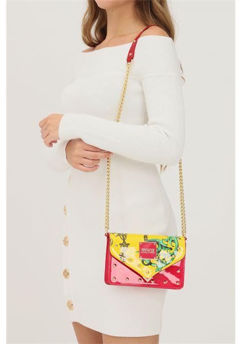 Borsa donna rosa versace jeans couture con tracolla finitura lucida VERSACE JEANS COUTURE   Borse   71VA4BE3ZS064OH0 (455+618)