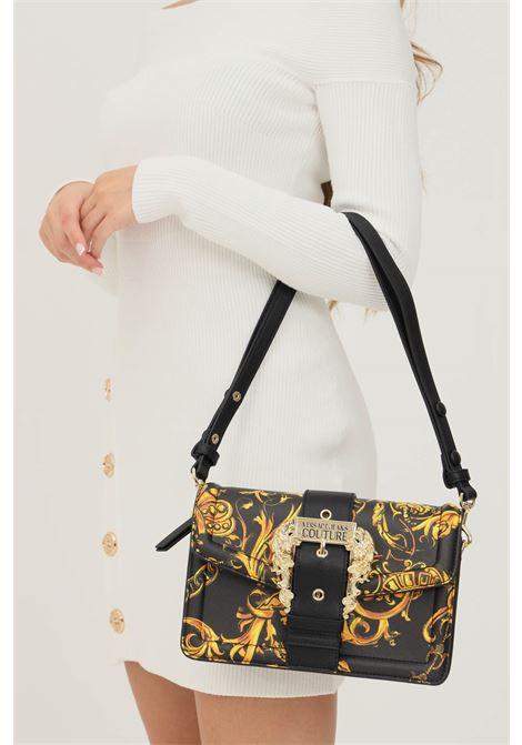 Borsa donna nero oro versace jeans couture con tracolla removibile VERSACE JEANS COUTURE   Borse   71VA4BF171880G89 (899+948)
