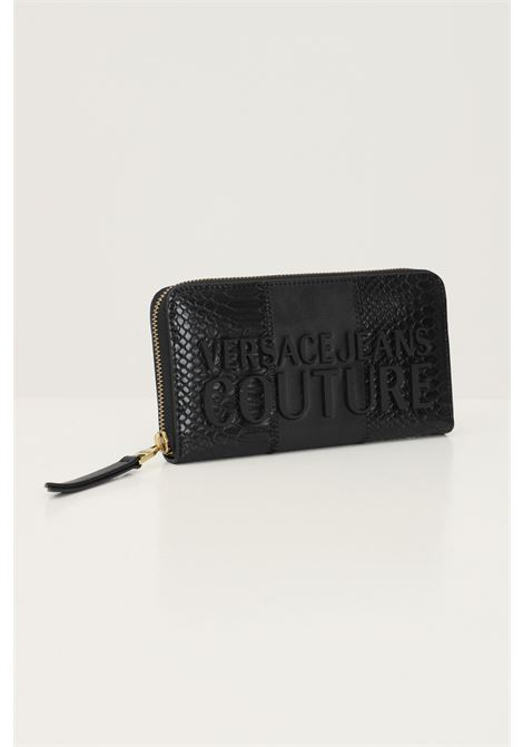 Black women's wallet by versace jeans couture with embossed logo lettering VERSACE JEANS COUTURE | Wallet | 71VA5P41ZS074899
