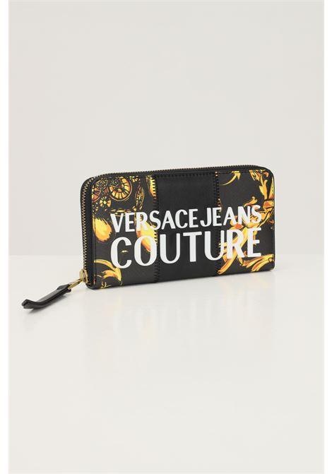 Portafogli donna versace jeans couture con stampa barocca e applicazione logo VERSACE JEANS COUTURE   Portafogli   71VA5P41ZS082G89 (899+948)