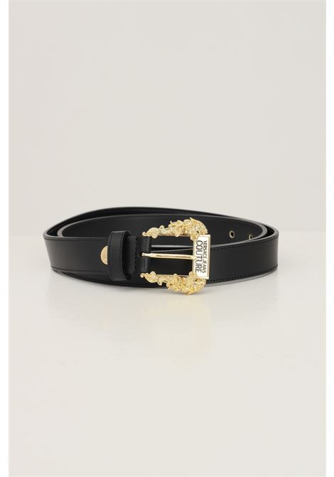 Black women's belt by versace jeans couture with gold logo buckle VERSACE JEANS COUTURE | Belt | 71VA6F0171627899