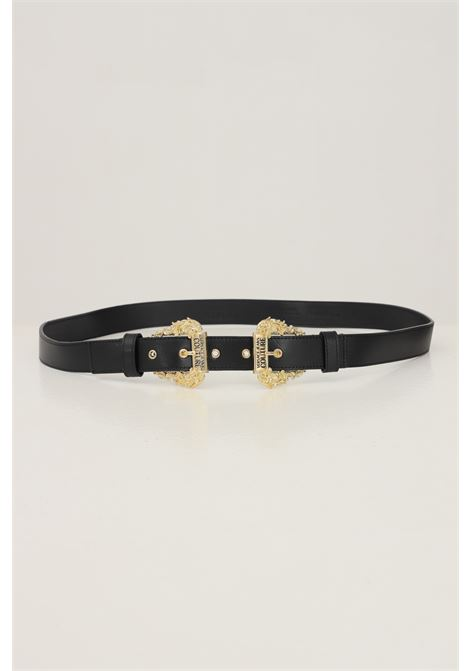 Black women's belt by versace jeans couture with double gold buckle VERSACE JEANS COUTURE | Belt | 71VA6F1771627899