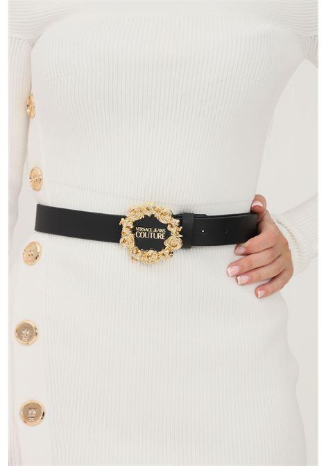 Cintura donna nero versace jeans couture con fibbia oro VERSACE JEANS COUTURE   Cinture   71VA6F3071627899