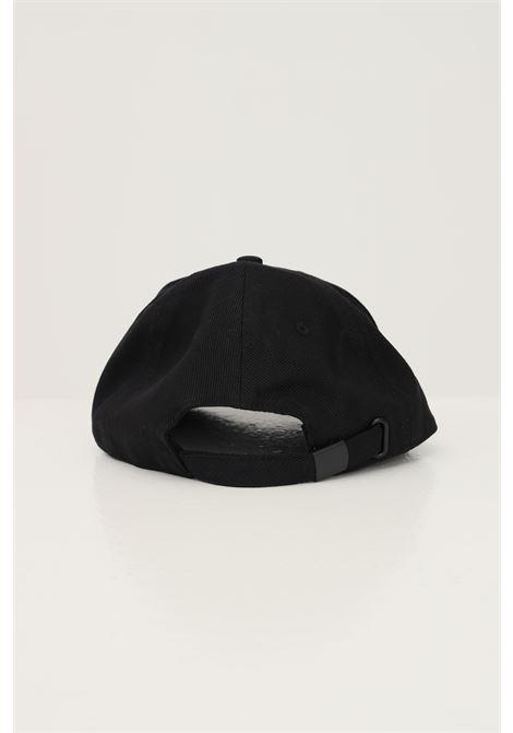 Cappello unisex nero versace jeans couture modello berretto con logo lettering ricamato VERSACE JEANS COUTURE | Cappelli | 71VAZK11ZG010899