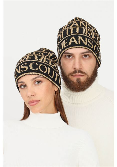 Cappello unisex nero oro versace jeans couture VERSACE JEANS COUTURE | Cappelli | 71VAZK42ZG021G89 (899+948)