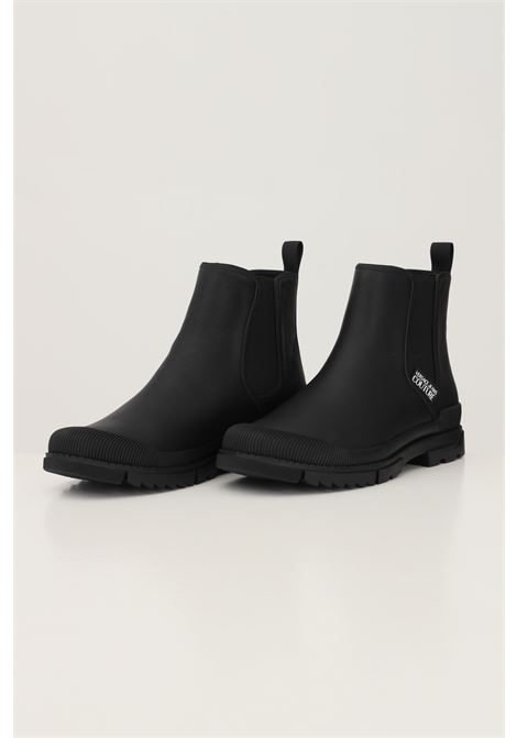 Black men's slip on ankle boots by versace jeans couture VERSACE JEANS COUTURE | Ankle boots | 71YA3S03ZP007899