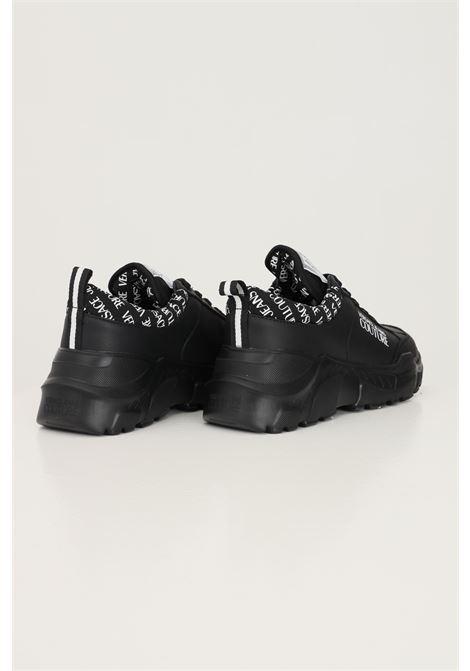Sneakers fondo speedtrack uomo nero versace jeans couture con logo laterale a contrasto VERSACE JEANS COUTURE   Sneakers   71YA3SC1ZP020899