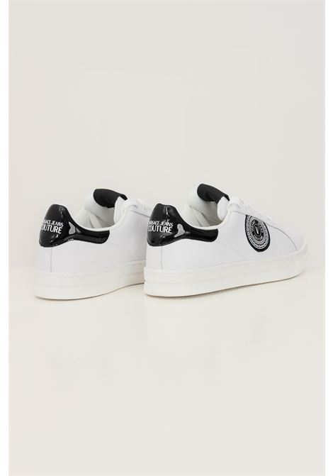 Sneakers fondo court 88 uomo bianco versace jeans couture con patch logo laterale VERSACE JEANS COUTURE   Sneakers   71YA3SK1ZP026003