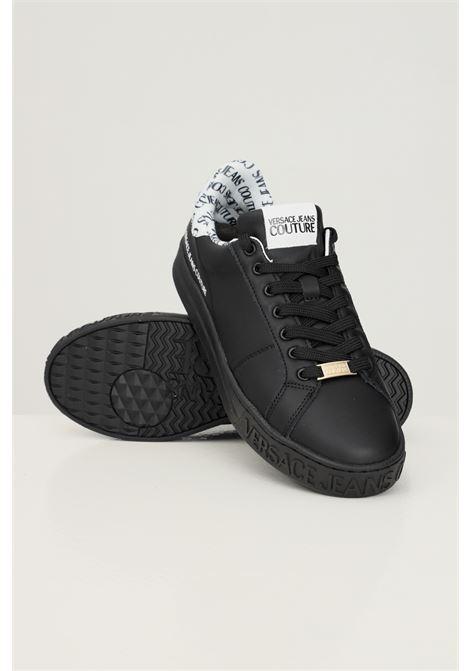 Black men's fondo court 88 sneakers by versace jeans couture  VERSACE JEANS COUTURE | Sneakers | 71YA3SK3ZP028L01 (899+003)
