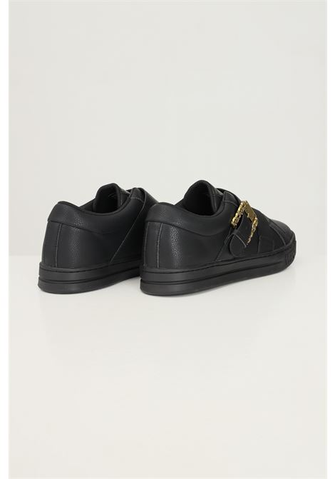 Black men's sneakers by versace jeans couture with gold buckle VERSACE JEANS COUTURE | Sneakers | 71YA3SK9ZP034899