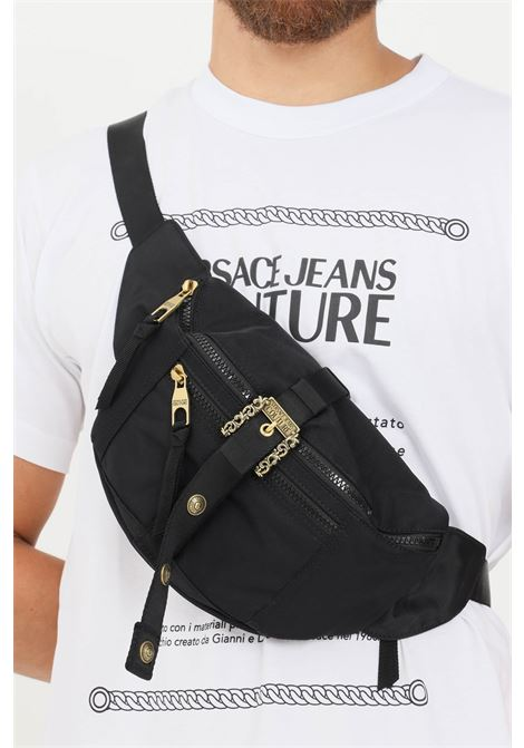 Black men's pouch by versace jeans couture with gold buckle VERSACE JEANS COUTURE   Pouch   71YA4B82ZS106899