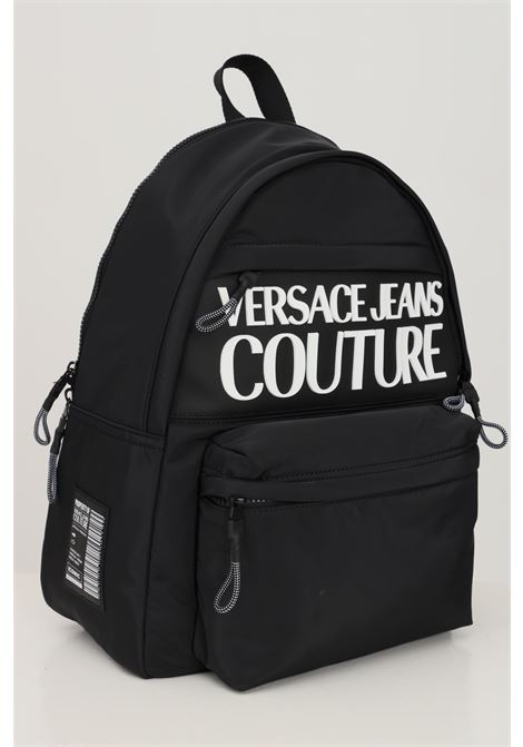 Black unisex backpack by versace jeans couture with embossed logo VERSACE JEANS COUTURE | Backpack | 71YA4B90ZS108899