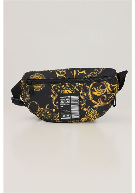 Gold black men's logotype baroque pouch by versace jeans couture  VERSACE JEANS COUTURE   Pouch   71YA4B95ZS109G89 (899+948)