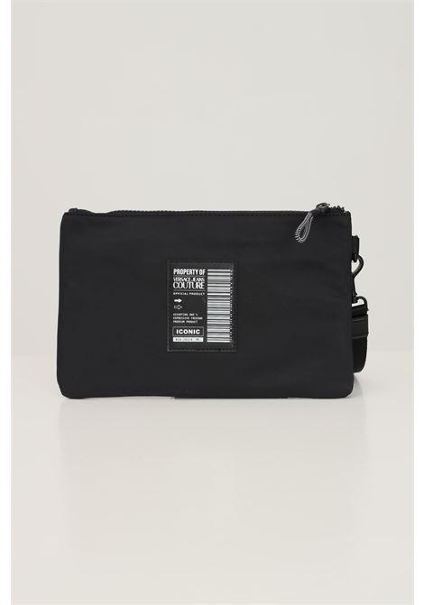 Pochette uomo nero versace jeans couture con logo lettering a contrasto VERSACE JEANS COUTURE | Borse | 71YA5P90ZS108899