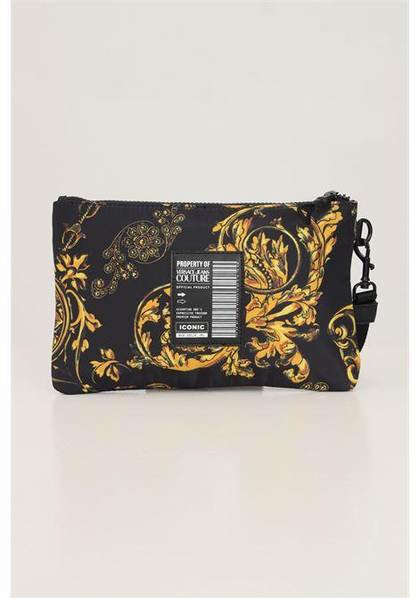 Pochette baroque logotype uomo nero versace jeans couture VERSACE JEANS COUTURE | Borse | 71YA5P90ZS109G89 (899+948)