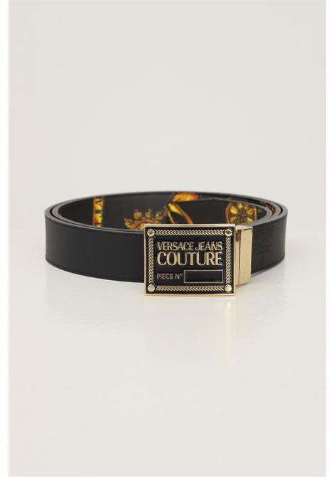 Cintura uomo nero versace jeans couture modello reversibile VERSACE JEANS COUTURE   Cinture   71YA6F01ZP056G89 (899+948)