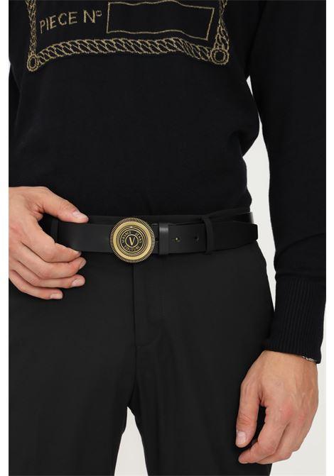 Cintura uomo nero versace jeans couture con fibbia oro VERSACE JEANS COUTURE | Cinture | 71YA6F0872006899