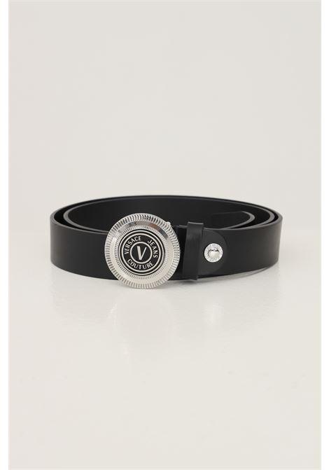 Cintura uomo nero versace jeans couture con fibbia argento VERSACE JEANS COUTURE   Cinture   71YA6F0872006OF6 (899+965)